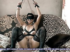 My wife lost a bet and had to fuck my best client blindfolded